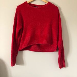 U2B Cropped Long Sleeve Knit Sweater